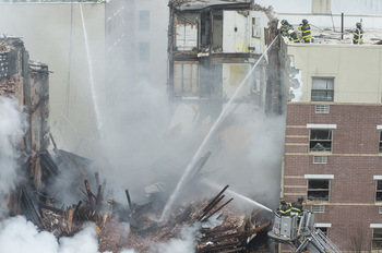ニューヨークの災害写真